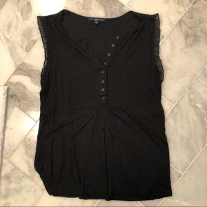 💜Gap black tank top blouse